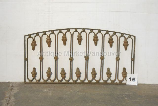 Wrought iron transom / arch